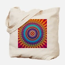 Fire and Ice mandala Tote Bag