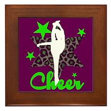 Cheerleaer Framed Tile