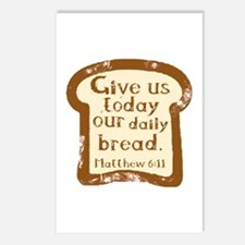 Give us today our daily bread. Matthew 6:11. Postc