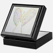 Rainbow Hearts Angel Keepsake Box
