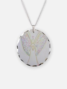 Rainbow Hearts Angel Necklace