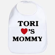 Tori loves mommy Bib