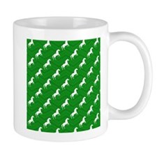Green and White Horse, Equestrian, Chevron Patter