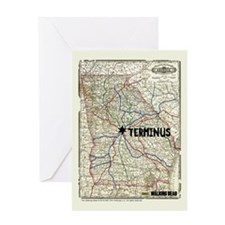 Walking Dead Terminus Map Greeting Card