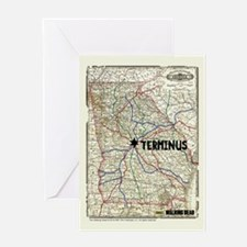 Walking Dead Terminus Map Greeting Card