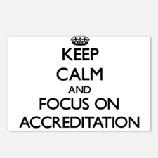 Keep Calm And Focus On Accreditation Postcards (Pa