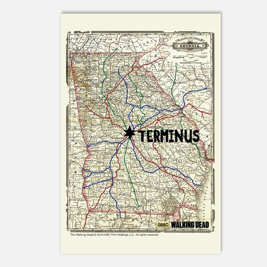 Walking Dead Terminus Map Postcards (Package of 8)