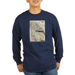 Walking Dead Terminus Map Long Sleeve T-Shirt