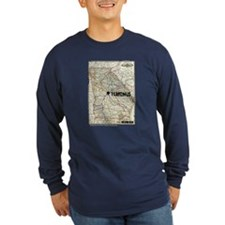 Walking Dead Terminus Map Long Sleeve T-Shirt
