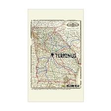 Walking Dead Terminus Map Sticker