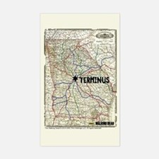 Walking Dead Terminus Map Decal