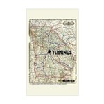 Walking Dead Terminus Map Sticker