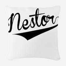 Nestor, Retro, Woven Throw Pillow