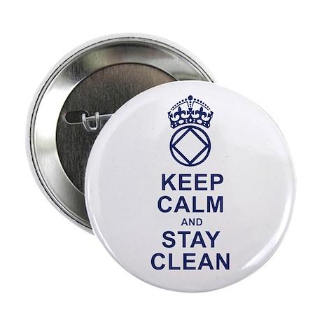 "Calm and Clean 2.25"" Button"