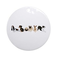 Dogs Line-Up Ornament (Round)
