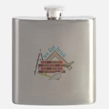 We Lay Brick Flask