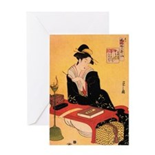 Immortal Poet by Chobunsei Eishi Greeting Card