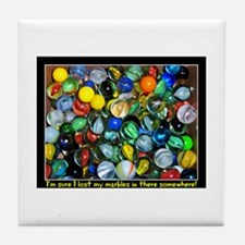 Lost Marbles Tile Coaster