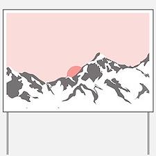 Mountain Sunrise Yard Sign