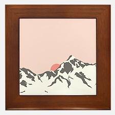 Mountain Sunrise Framed Tile