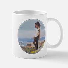 Cute African Girl at Beach Mugs