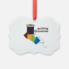 Quilting Grandma Ornament
