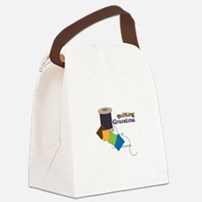 Quilting Grandma Canvas Lunch Bag