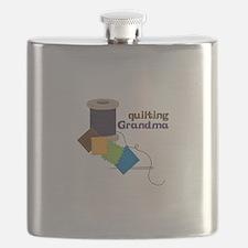Quilting Grandma Flask