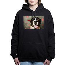 Lovely St. Bernard Women's Hooded Sweatshirt