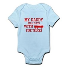 Daddy Plays With Fire Trucks Body Suit