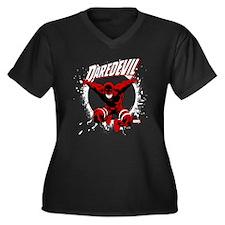 Jumping Dare Women's Plus Size V-Neck Dark T-Shirt