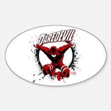 Jumping Daredevil Sticker (Oval)