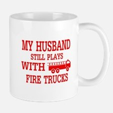 Husband Plays With Fire Trucks Mugs