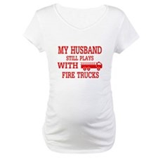 Husband Plays With Fire Trucks Shirt