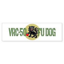 VRC-50 Fu Dog Bumper Car Sticker