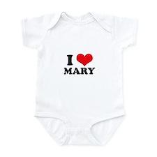 I Heart Mary Infant Bodysuit