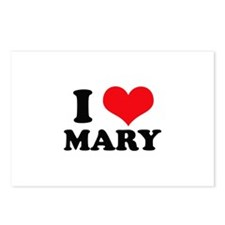 I Heart Mary Postcards (Package of 8)
