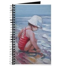 Little girl with white hat at the beach Journal