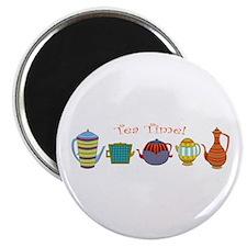 """Tea Time! Teapots 2.25"""" Magnet (10 Pack) Magn"""