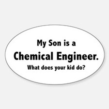 Chemical Engineer Son Oval Decal