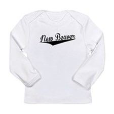 New Beaver, Retro, Long Sleeve T-Shirt