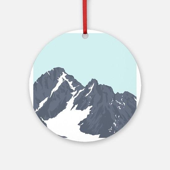 Mountain Peak Ornament (Round)