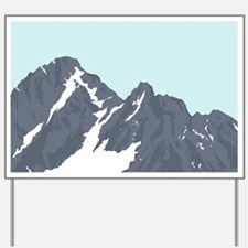 Mountain Peak Yard Sign