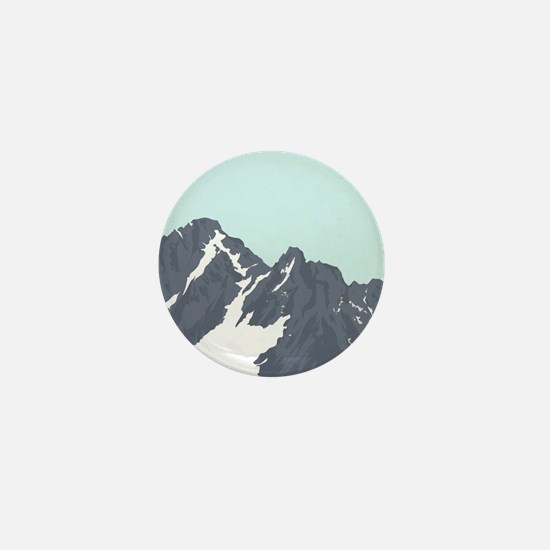 Mountain Peak Mini Button