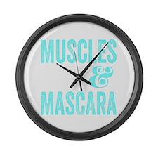 Muscles & Mascara Large Wall Clock