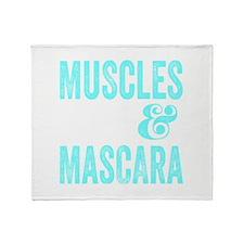Muscles & Mascara Throw Blanket