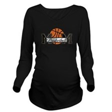 Basketball Mom Long Sleeve Maternity T-Shirt
