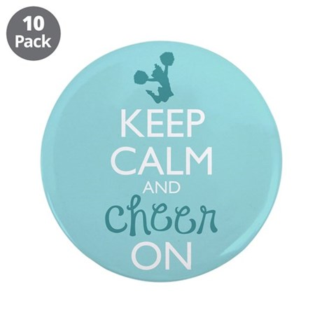 """Keep Calm and Cheer On 3.5"""" Button (10 pack)"""