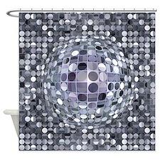 Optical Illusion Sphere - Monochrom Shower Curtain