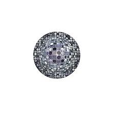 Optical Illusion Sphere - Monochrome Mini Button